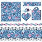 Frame,Retro Styled,No People,Pattern,Flower,Scrapbook,Ornate,Collection,Illustration,Ribbon - Sewing Item,Backdrop,Seamless Pattern,Heart Shape,Decoration,Botany,Backgrounds,Blossom,Decor,Vector,Label,Lace - Textile,Pattern,Floral Pattern,Fabric Swatch,Textile