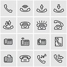 Symbol,Sign,Communication,Support,Telephone,Business,Technology,Office,Black Color,In A Row,Old,Computer Icon,E-Mail,Global Communications,Illustration,Text Messaging,Vector,Service,Icon Set,City Of Center,Support,Service,61706,Business Finance and Industry