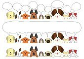 Frame,Banner,Labrador Retriever,Set,Paw,Human Face,Waist Up,Front View,Shih Tzu,Chihuahua - Dog,Real People,Simplicity,Cute,Cartoon,Single Line,Pug,Poodle,Speech Bubble,Multi Colored,Pet Shop,Animal Themes,Illustration,Terrier,Animal,Pets,Purebred Dog,Variation,Dog,Bulldog,Vector,Design Element,Backgrounds,Sparse,Design,In A Row,Saint Bernard,White Background,German Shepherd
