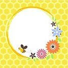 Bee,Honeycomb,Frame,Invitation,Flower,Single Flower,Retro Revival,Circle,Vector,Springtime,Yellow,Hexagon,Old-fashioned,Floral Pattern,Backgrounds,Square,Seamless,Bouquet,Natural Pattern,Summer,Blossom,Flower Head,Petal,Copy Space,Message,Nature,Cut Flowers,Decoration,Design,Leaf