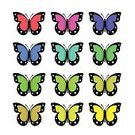 Cut Out,No People,Art And Craft,Art,Painted Image,Illustration,Butterfly - Insect,Group Of Objects,Multi Colored