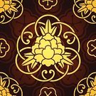 Floral Pattern,Vector,Art,Gold Colored,Flower,Pattern,Peony,Seamless,Blossom,Backgrounds