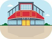 Shopping Mall Exterior,Retail,Shopping Mall,Shopping,Illustration,Vector,Holiday - Event,Business Finance and Industry