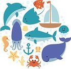 102393,Shark,Ship,Animal,Cute,Sea,Sailing Ship,Template,Cheerful,Crab,Summer,Anchor - Vessel Part,Illustration,Jellyfish,Squid,Starfish,Circle,Smiling,Underwater,Nautical Vessel,Whale,Portrait,Sea Horse,Sailing,Fun,Vector,Dolphin