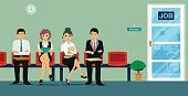 Adult,Women,Waiting,Businesswoman,Recruitment,,Unemployment,Illustration,Business Person,People,Businessman,Business Finance and Industry,Domestic Room,Social Issues,Business,Vector,Working,Occupation,Sitting