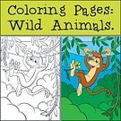 White,Colors,Page,Cartoon,Black Color,Book,Forest,Primate,Coloring,Illustration,Nature,Zoo,Role Model,Color Image,Animals In The Wild,Education,Characters,Contour Drawing,Painted Image,Mammal,Tropical Rainforest,Happiness,Monkey,Child,Fun,Vector,Cheerful,Smiling,Cute,Outline,Ape,Wildlife,Animal,Multi Colored,Preschool Building,Preschool Age,Backgrounds,Computer Graphic,Ink,Posing