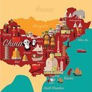 Tibetan Monks,Beijing City,Beijing,Asia,China - East Asia,Hong Kong,Famous Place,Tourist,Illustration,People,Symbol,Map,Nautical Vessel,Vector,Architecture,Red