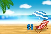 Illustration,Summer,Sky,Travel,Water's Edge,People Traveling,Cloud - Sky,Tropical Climate,Lagoon,water scenics,Starfish,Chair,Outdoors,Seascape,Horizontal,Shape,Vibrant Color,Sunny,Climate,Illustrator,Beach,Landscape,Concepts & Topics,Animal Shell,Sea,Backgrounds,Sun,Coastline,Visit,Tourist,No People,Vacations,Sand,Turquoise Colored,Exoticism,Day,Nature,Tranquil Scene,Relaxation,Copy Space,Sunlight,Star - Space
