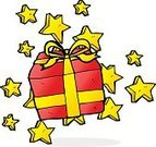 Freehand,No People,Doodle,Gift,Vector,Illustration,Christmas