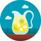 Summer,Juice,Fruit,Vacations,Vector,Pitcher,Cold - Temperature,Yellow,Cool,Lemonade,Jug,Glass - Material,Juicy,Cocktail,Illustration,Isolated,Refreshment,Freshness,Citrus Fruit,Tropical Climate,Slice,Drink,Lemon