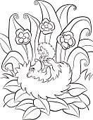 Characters,Happiness,Fun,Nature,Child,Vector,Cute,Book,Activity,Color Image,Animals In The Wild,black-and-white,Mother,Small,Baby,Backgrounds,Contour Drawing,Forest,Outline,Flower,Hedgehog,White,Mushroom,Cartoon,Page,Illustration,Animal,Black Color,Painted Image,Coloring,Life,Wildlife,Smiling,Summer,Cheerful,Computer Graphic,Ink,Posing
