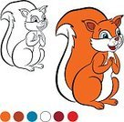 Happiness,Food,Cute,Vector,White,Cartoon,Painted Image,Backgrounds,Child,Image,Posing,Contour Drawing,Symbol,Red,Small,Wildlife,Leisure Games,Outline,Nature,Smiling,Page,Book,Young Adult,Squirrel,Color Image,Isolated,Illustration,Animal,Computer Graphic,Coloring,Black Color,Characters,Ink,Baby,Rodent,Fun,Mammal,Animals In The Wild