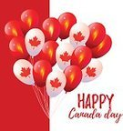 Flag,Balloon,Holiday,Vector,Canada,Color Image,Maple Leaf,Canadian Flag,Red,July,White,Canada Day,Celebration,Independence Day,Patriotism