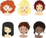Women,Cartoon,Redhead,Fashion,Isolated,Blond Hair,Profile,Ethnicity,People,Girls,Human Hair,American Culture,Human Skin,Group of Objects,Sparse,Young Adult,Human Eye,Beauty,Laughing,Simplicity,Teenage Girls,Ethnic,Collection,Caucasian Ethnicity,Cute,Human Head,Vector,Illustration,Style,Characters,Real People,African Descent,Portrait,Human Face,Men,Beautiful,Curly Hair,Toned Image,Avatar,Set,Hairstyle,Internet,Smiling,Happiness,Multi-Ethnic Group,Females