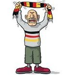 Cheerful,Cartoon,Cheering,Patriotism,Spectator,nation,Crying,Singing,Illustration,Humor,Vector,Characters,Screaming,Front View,Sports Team,Sport,Standing,Furious,Design,One Person,Cute,Fun,Shouting,Germany,Playing,Soccer,Playful,ultra,German Culture,Fan - Enthusiast