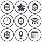 Token,Internet,Battery,Badge,rated,Label,Vector,Timer,Business Finance and Industry,Sign,Mobile App,Clock,Data,Wrist,Symbol,Illustration,Communication,www,Business,Wireless Technology,Shape,Computer Software,USB Cable,Calendar