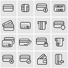 Greeting Card,Plastic,Finance,Banking,Illustration,Icon Set,Computer Icon,Symbol,Business Finance and Industry,Outline,Retail,Paying,Debt,In A Row,Currency,Finance and Economy,Business,Credit Card,Coin Bank,Vector,Buying