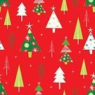 Illustration,Decoration,Vector,Multi Colored,Wallpaper Pattern,Christmas,Season,Seamless,Wrapping Paper,Winter,Greeting Card,Star Shape,Holiday,Tree,Snow,Retro Styled,Greeting,Year,Snowflake,Red,Nature,Paper,Backgrounds,Pattern,Design,Green Color