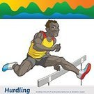 Emotion,Sports Training,Exercising,The Olympic Games,Men,The Human Body,Infographic,Competitive Sport,Healthy Lifestyle,Professional Sport,Sportsman,Summer Olympic Games,Competition,Sports Clothing,Running,Hurdling,Muscular Build,Athlete,Sport,Young Men