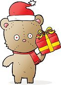 Doodle,Gift,Vector,Teddy Bear,Illustration,No People,Freehand,Bear,Christmas