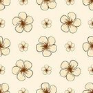 No People,Flower,Tropical Climate,Flowering Plant,Sketch,Plant,Doodle,Ornate,Summer,Illustration,Nature,Flower Head,Seamless Pattern,Tropical Flower,Season,Backgrounds,Blossom,Vector,Springtime,Natural Pattern,Pattern,Floral Pattern,Brown