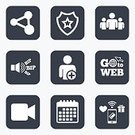 Technology,Circle,Sign,Camera - Photographic Equipment,Leadership,Paying,Add,People,user,Label,Calendar,Wireless Technology,Pager,Vector,Application Software,Token,Shape,Badge,Symbol