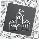 Computer Graphic,Illustration,Pencil,Scribble,Drawing - Activity,Doodle,Flag,Town,Creativity,Backgrounds,Symbol,Library,Education,Clock,University,Museum,Architecture,Vector,Business,Construction Industry,Sign