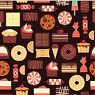 Snack,Brown,Colors,Eat,Chocolate,Part Of,Candy,Illustration,Design Element,Refreshment,Set,Cafe,Menu,Messy,Blue,Meal,Symbol,Bakery,Collection,Backgrounds,Dark,Food,Variation,Cartoon,Gourmet,Cute,Sweet Food,Pattern,Seamless,Dessert,Computer Graphic,Design,Retro Styled,Old-fashioned,Beautiful,Restaurant,Flat,Cake,Cupcake,Birthday,Vector