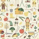 Nature,Tree,Illustration,Backgrounds,Pattern,Working,Gardening,Seamless,Vegetable Garden,Symbol,Pruning Shears,People,Lawn Mover,Vegetable,Fruit,Equipment,Farm,Collection,Agriculture