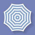 Outdoors,Summer,Beach,Relaxation,Shade,Simplicity,Striped,Symbol,Computer Icon,Vector,Umbrella,Protection,Open,Single Object,Weather,Parasol