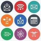 Token,Internet,Service,Badge,Label,Vector,Inbox - Filing Tray,Mail,Photography Themes,Sign,Mobile App,Outbox - Filing Tray,Camera - Photographic Equipment,Speed,Paying,Symbol,E-Mail,Document,Illustration,Communication,Downloading,Envelope,webmail,Send,Service,Wireless Technology,Shape,Computer Software,Calendar
