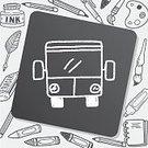 Business,Vector,Symbol,Land Vehicle,Transportation,Passenger,Bus,Sign,Scribble,Doodle,Creativity,Drawing - Activity,Computer Graphic,Pencil,Illustration,Backgrounds