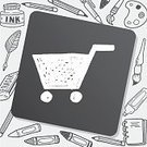 Computer Graphic,Illustration,Pencil,Drawing - Activity,Doodle,Mail,Backgrounds,Creativity,keyword,Sign,Telephone,Web Page,Shopping Cart,Computer,Internet,Symbol,Vector,Business,Scribble