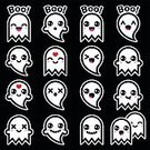 Fear,Horror,Happiness,Smiling,Mischief,Child,Heckling,31 october,Cute,Ghost,Characters,Halloween,Celebration,kawaii