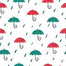 Cut Out,Abstract,No People,Rain,Raindrop,Cartoon,Drop,Illustration,Climate,Autumn,Seamless Pattern,Watercolor Painting,Weather,Environment,Season,Backgrounds,Water,Vector,Umbrella,Blue,Red,Pattern