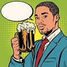 Humor,Commercial Sign,Joy,Ethnic,Fun,African Descent,African Ethnicity,Middle Eastern Ethnicity,American Culture,Beer - Alcohol,Alcohol,Digitally Generated Image,Men,Smiley Face,Thirsty,Vector,Waiter,Pub,Pop Musician,Holding,Lager,Latin American and Hispanic Ethnicity,Party - Social Event,Adult,Young Adult,Clip Art,Classic,Comic Book,Drawing - Art Product,Friendship,Celebratory Toast,Cartoon,Drink,Black Color,Businessman,Cafe,Drinking Glass,Painted Image,1940-1980 Retro-Styled Imagery,Style,Ideas,Retro Styled,Pop Art,People,Happiness,Illustration,Latin America,Males,Computer Graphic