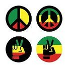 Rastafarianism,Africa,Cuba,Reggae,Jamaican Culture,Illustration,Peace Sign,Rastafarian,Human Body Part,Global,Human Hand,Flag,Arts Culture and Entertainment,Caribbean Culture,Gesturing,Peace Sign - Gesture