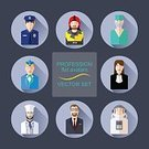 Cartoon,Human Head,Symbol,Occupation,Characters,Circle,Astronaut,Consultant,Collection,Lawyer,Males,Sales Clerk,Cap,Suit,Web Page,Air Stewardess,Manager,Portrait,Shadow,Clothing,Work Helmet,Firefighter,Flat,Protection,People,Females,Human Face,Pattern,Design,Doctor,Remote,Cooking,Uniform,Manual Worker,Hat,Social Issues,Set,Low,Men,Police Force,Judge - Law