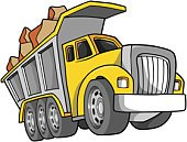 Truck,Mode of Transport,Construction Industry,Large,Clip Art,Vector,Land Vehicle,dump-truck,Rock - Object,Ilustration,Transportation,Power,Illustrations And Vector Art