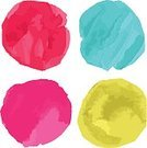 Grunge,Design Element,Art,Backgrounds,Isolated,Paint,Vector,Textured,Shape,Pink Color,Vibrant Color,Abstract,Design,Multi Colored,Colors,Collection,Drop,Dye,Watercolor Painting,Set,Button,Circle