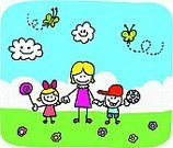 Mothers Day,Mother,Child's Drawing,Child,Cartoon,Parent,Family,Nature,Cheerful,Happiness,Little Boys,Doodle,Baby Girls,Drawing - Art Product,Offspring,Women,Pencil Drawing,Love,Vector,Smiling,Positive Emotion,Little Girls,Outdoors,Summer,Ilustration,Sketch,Vector Cartoons,Looking At Camera,Babies And Children,Families,Illustrations And Vector Art,Lifestyle