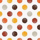 Competition,Ball,Basketball - Sport,Sport,Vector,Backgrounds,Equipment,Space,Sphere,Illustration,Seamless Pattern,Competitive Sport,Orange Color,Pattern,Brown