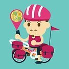 Adventure,Summer,Activity,Vector,Illustration,People,Vacations,Street,Bag,Bicycle,Exploration,Sport,Outdoors,Transportation,Cycling