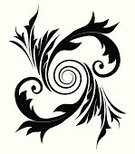 Scroll Shape,Isolated,Black Color,Spiral,flourishes,Black And White,Ornate,Curled Up,Leaf,Silhouette,Victorian Style,Swirl,Vector,Old-fashioned,Decoration,Gothic Style,Retro Revival,Illustrations And Vector Art,Vector Ornaments,Isolated On White,Design Element,No People,filigree