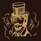 Adult,Sides,indistrial,Peepers,Steampunk,Men,Background,Machinery,Vector,Backgrounds,Human Body Part,Drawing - Activity,Human Face,Wheel,Illustration,Whisker,Ink,Hat,Monocle,Top Hat,Mustache,Beard,Facial Hair,Eyeglasses