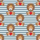 Decoration,Lion - Feline,Pattern,Young Animal,Mammal,Vector,Boys,Illustration,Striped,Backgrounds,Zoo,Cartoon,Painted Image,Heart Shape,King - Royal Person,Birthday,Seamless,Wildlife,Cute,Smiley Face,Creativity,Love,Pride Of Lions,Friendship,Crown,Small,Smiling,Cheerful,Child,Fete,Animal,Kid Goat,Toy,Childhood,Undomesticated Cat