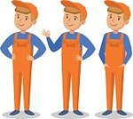 Boys,Cartoon,Blue,Vector,Technician,Service,Repairing,Men,Males,Happiness,People,Engineer,Jumpsuit,Employment Issues,Beautiful,Business,Computer Graphic,Mechanic,Orange Color,Cute,Humor,Fun,Bib Overalls,Occupation,Illustration,Manual Worker,Characters,Smiling,Cap,Young Adult,Yellow,Small,Human Face,Working,One Person,Symbol,Cheerful