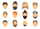 Child,People,Used,Vector,Human Body Part,Business Finance and Industry,Barber,Boys,Hairstyle,Men,Adult,Goatee,Mustache,Human Face,Arts Culture and Entertainment,Symbol,Illustration,Beard,Collection,Business,Beautiful People,Fashion,104872