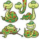 Humor,Strength,Fun,Viper,Snake,Vector,Zoo,Cute,Symbol,Illustration,Python,Reptile,Spiral,Animal Wildlife,Smiling