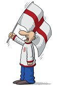 Ultra,Characters,Humor,England,One Person,Soccer,Spectator,Cute,Cartoon,British Culture,Illustration,People,National,Sport,Sports Team,Fan - Enthusiast,Playful,Furious,Fun,Vector,Design,Patriotism,Anger,Shouting,Cheering,Singing,Screaming,Crying,Standing